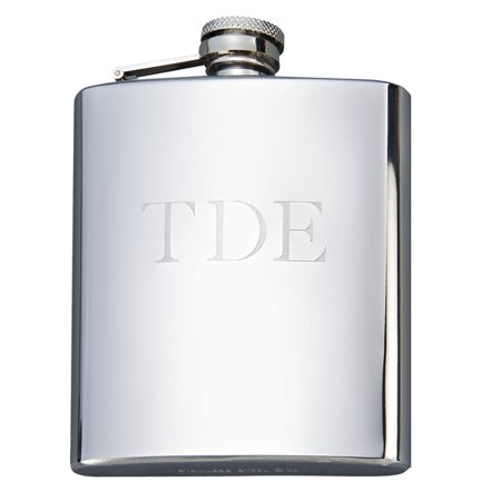 Monogrammed Flask (Personalized Monogrammed Bright Stainless Steel Flask, 8 Oz )