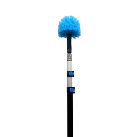 EVERSPROUT 5-to-13 Foot Cobweb Duster and Extension-Pole Combo (20 Ft. Reach, Medium-Stiff Bristles)   Hand Packaged   Lightweight, 3-Stage Aluminum Pole   Indoor & Outdoor Use Brush Attachment ()