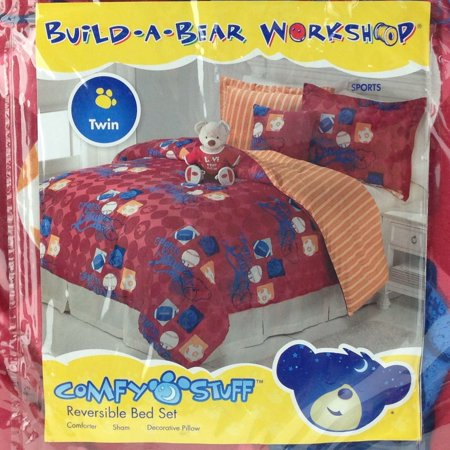 Build-A-Bear Workshop Twin Bedding Set Sports Theme