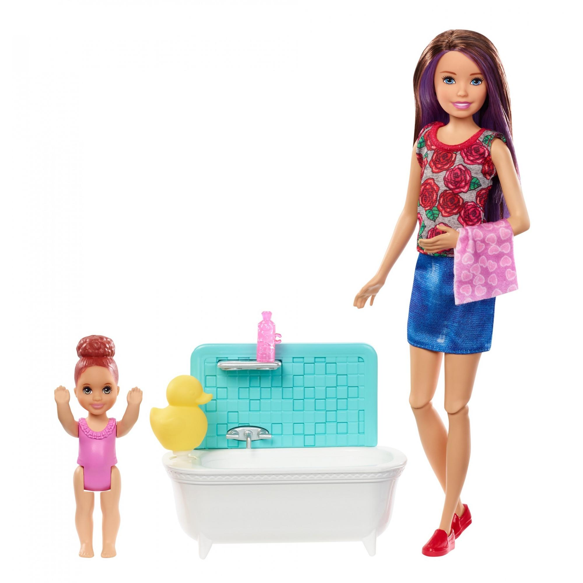 Barbie Skipper Babysitters Inc Bath Time Playset, Brunette