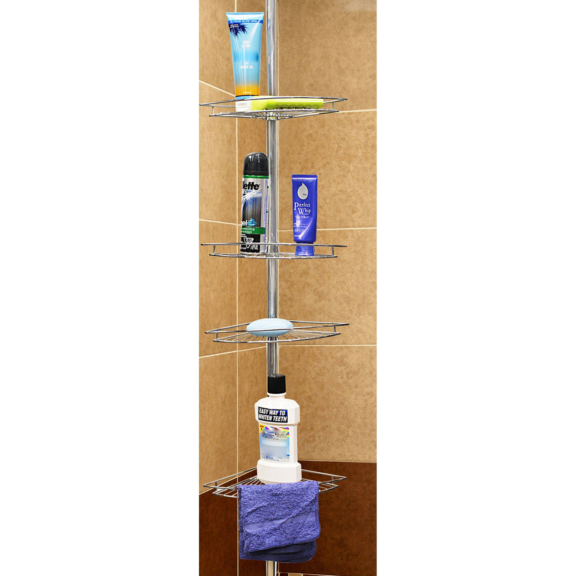 Home Basics 4-Tier Corner Shower Shelf