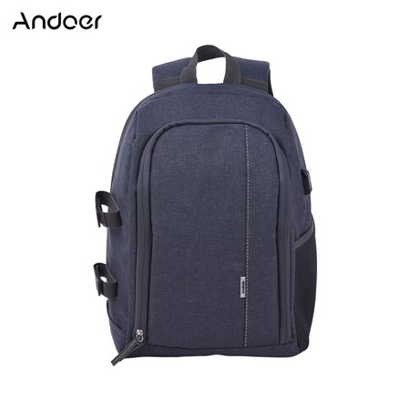 Andoer Shockproof Backpack Outdoor Photography Travel Camera Bag with Tripod Holder for Canon Nikon Sony A7RII A7II A7SII A7R A7S A7 DSLR Mirrorless (Best Dslr Camera For Travel Photography)
