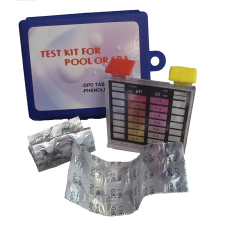 2-Way Swimming Pool Test Tablet Kit with Case - Tests pH and Chlorine
