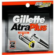 Gillette AtraPlus Cartridges 10 Each (Pack of 2)