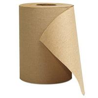 "GEN Hardwound Roll Towels, 1-Ply, Brown, 8"" x 300 ft, 12 Rolls/Carton"