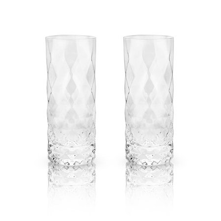 Glass Wine, Raye Gem Crystal Highball Insulated Clear Wine Glasses, Set Of (Gemstone Crystal Set)