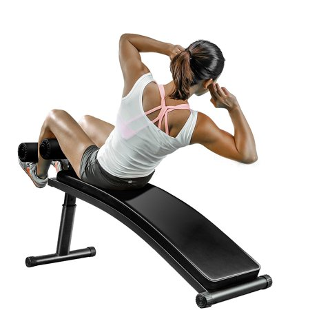 Finer Form Gym-Quality Sit Up Bench with Reverse Crunch Handle for Ab Exercises