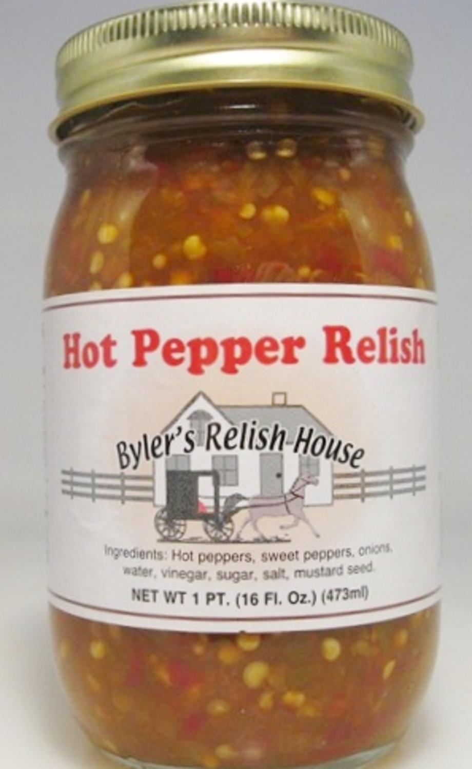Byler's Relish House Homemade Amish Country Hot Pepper Relish 16 oz. by Byler's Relish House
