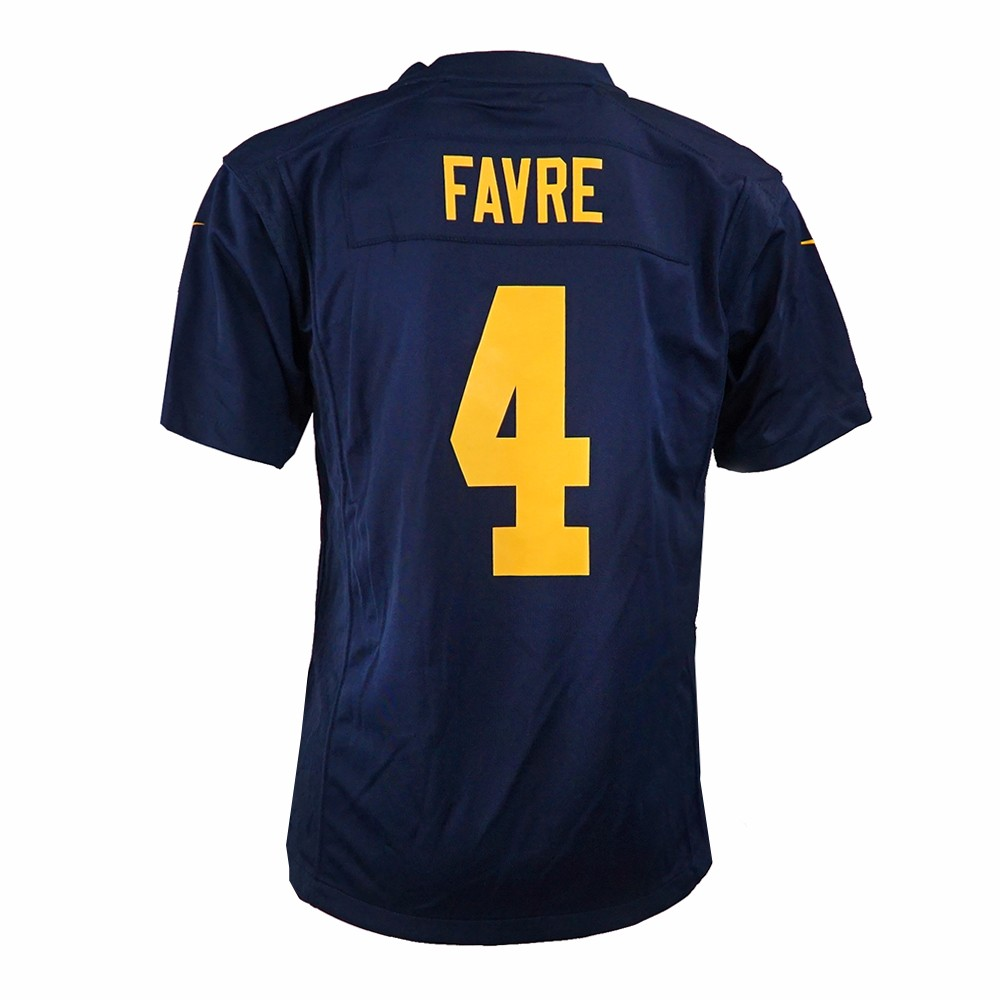 Brett Favre Green Bay Packers NFL Nike Navy Game Team Jersey For Youth