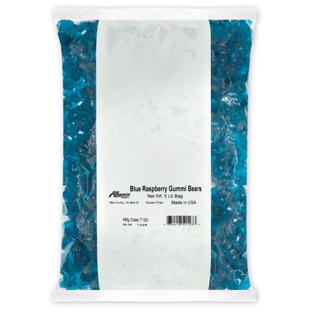 Blue Raspberry Gummi Bears Bulk Candy, 5 Lb](Bulk Blue Candy)