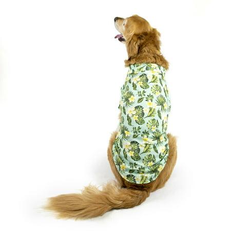 vibrant life hawaiian plumeria camp dog shirt medium. Black Bedroom Furniture Sets. Home Design Ideas