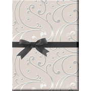 Wedding Swirl Pearl and silver Gift Wrap Wrapping Paper-15ft Rollwith Gift Labels