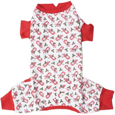 Candy Cane Dog Pj's-Extra Small