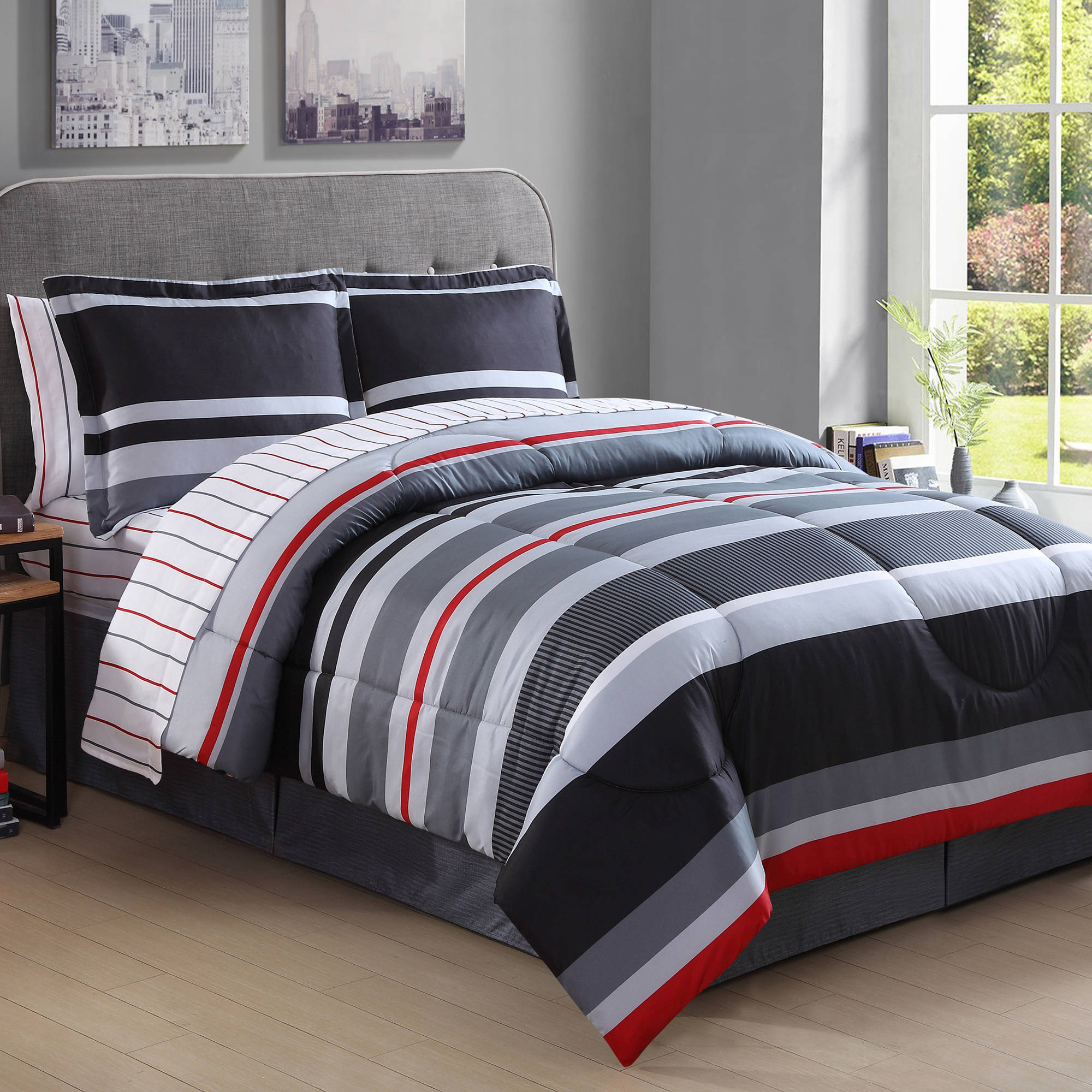 Arden Stripe Bed in a Bag Walmart