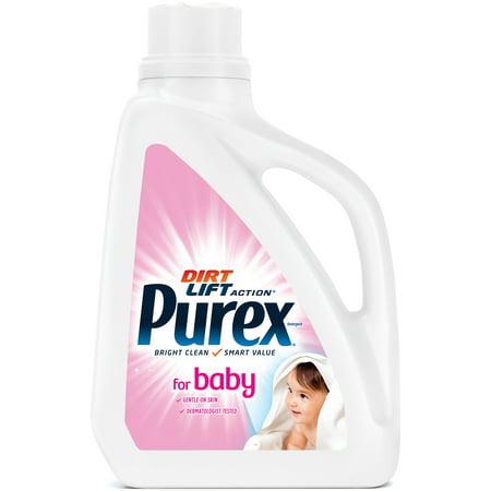 Purex Liquid Laundry Detergent, Baby, 75 Fluid Ounces, 50 Loads