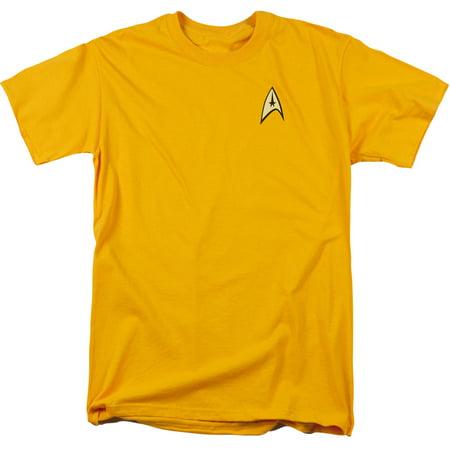 Star Trek TV Series Captain Kirk Command Uniform Adult T-Shirt Tee (Star Trek Uniform Buy)