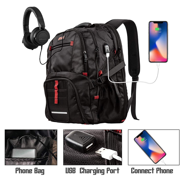 SLHFPX Large Backpack Yellow Fruit Lemon Polka Dot Laptop Travel School College Backpacks Bag