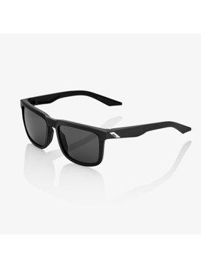 100% Blake Sunglasses: Soft Tact Black with Smoke Lens