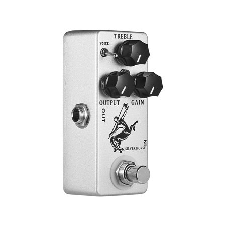 MOSKY Silver Horse Overdrive Boost Guitar Effect Pedal Full Metal Shell True Bypass