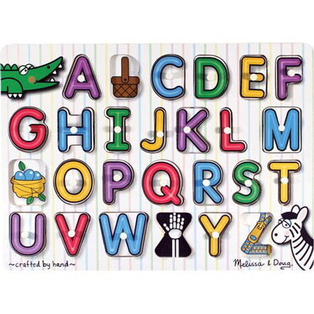 Melissa & Doug See-Inside Alphabet Wooden Peg Puzzle (26 pcs)](Puzzle Games For Toddlers)