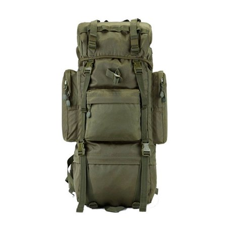 Zimtown 65L Waterproof Tactical Backpack, Military Luggage Daypack Canva Bag, for Camping Hiking Climbing Trekking Traveling Outdoor Sports