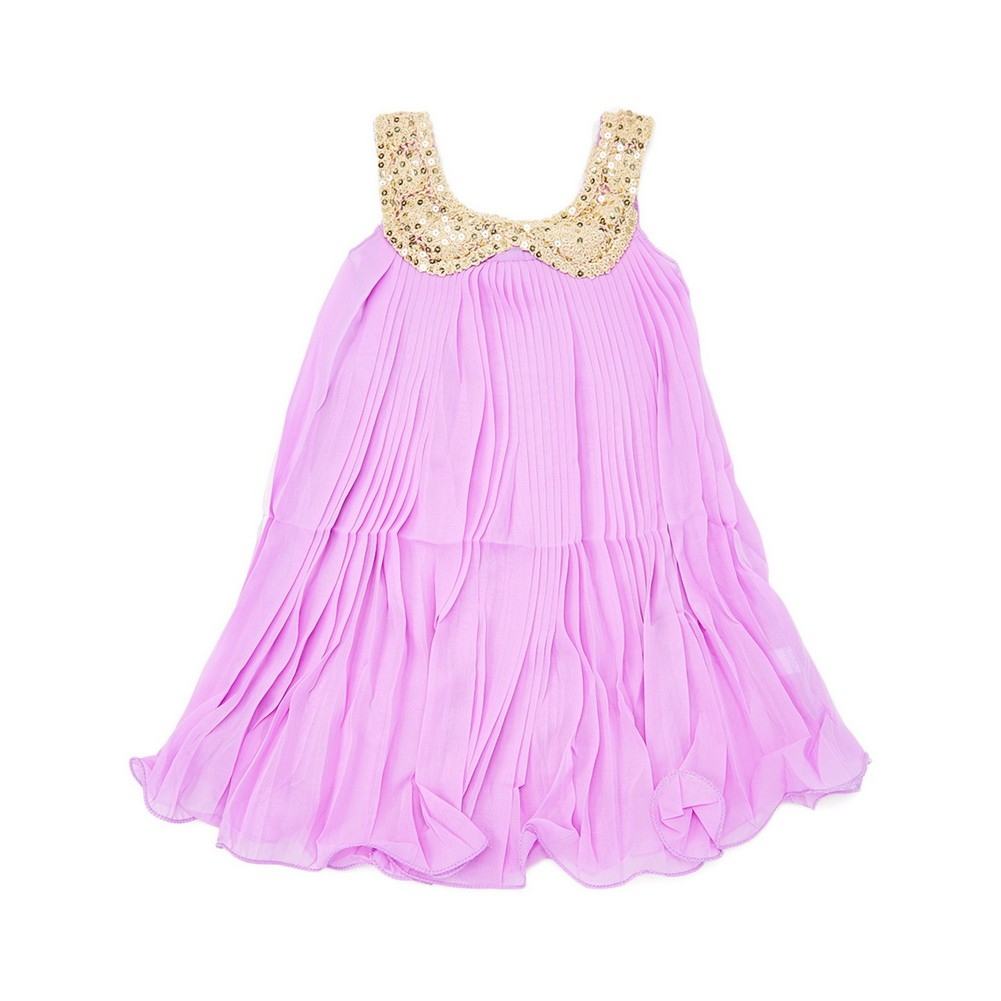 Royal Gem Little Girls Purple Glitter Sequin Peter Pan Collar Shift ...