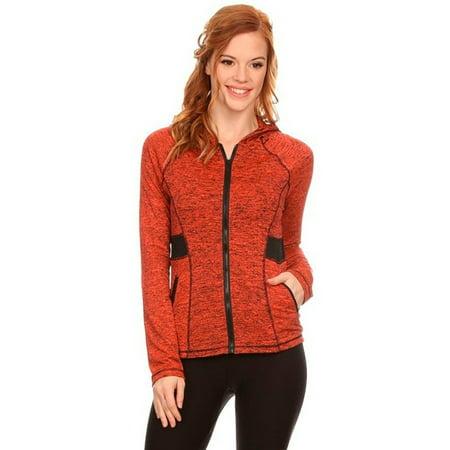 Women's Active Wear Zip Up Jacket With Hoodie