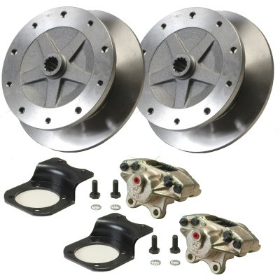 Rear 5 Lug Long Axle Economy Disc Brake Kit With Bolt On Caliper Brackets For Irs Or Long Axle Swing