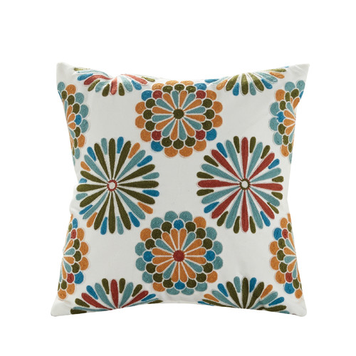 Elight Home Madalyn Embroidered Cotton Throw Pillow