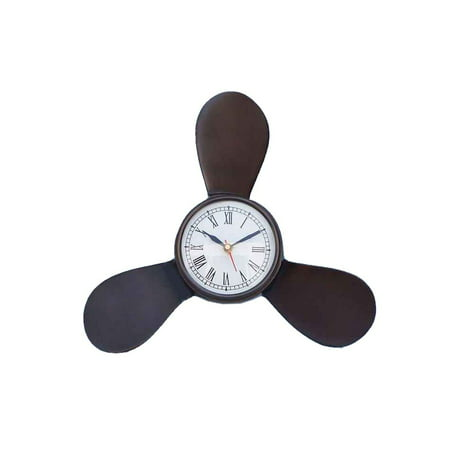 Antique Copper Propeller Clock 12