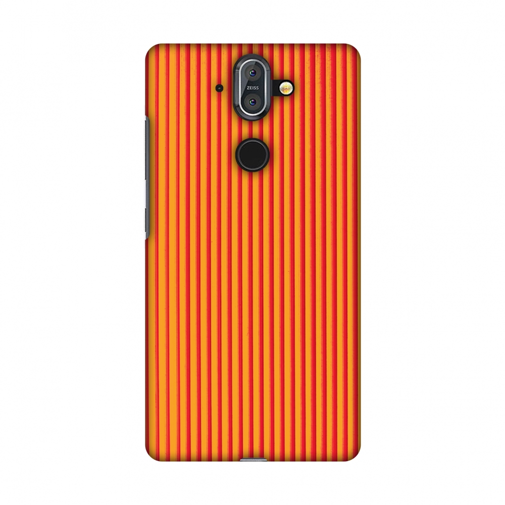 Nokia 8 Sirocco Case, Premium Handcrafted Printed Designer Hard ShockProof Case Back Cover with Screen Cleaning Kit for Nokia 8 Sirocco - Carbon Fibre Redux Tangy Orange 14