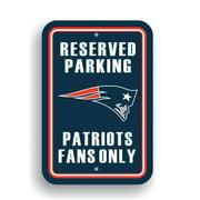 NFL Patriots Parking Sign