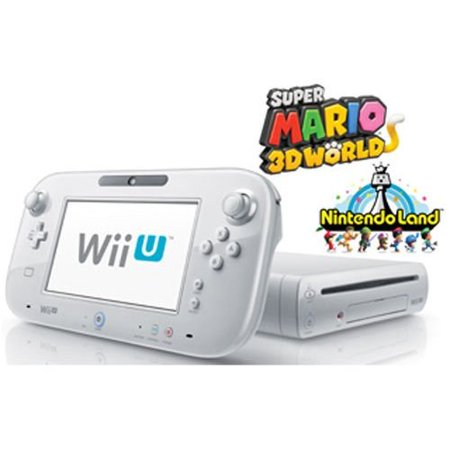 Refurbished Wii U Deluxe Set 8GB White With Super Mario 3D World And Nintendo (Nintendo Wii U Super Mario Maker Console)