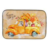 Fall Harvest Catahoula Leopard Dog Dish Drying Mat