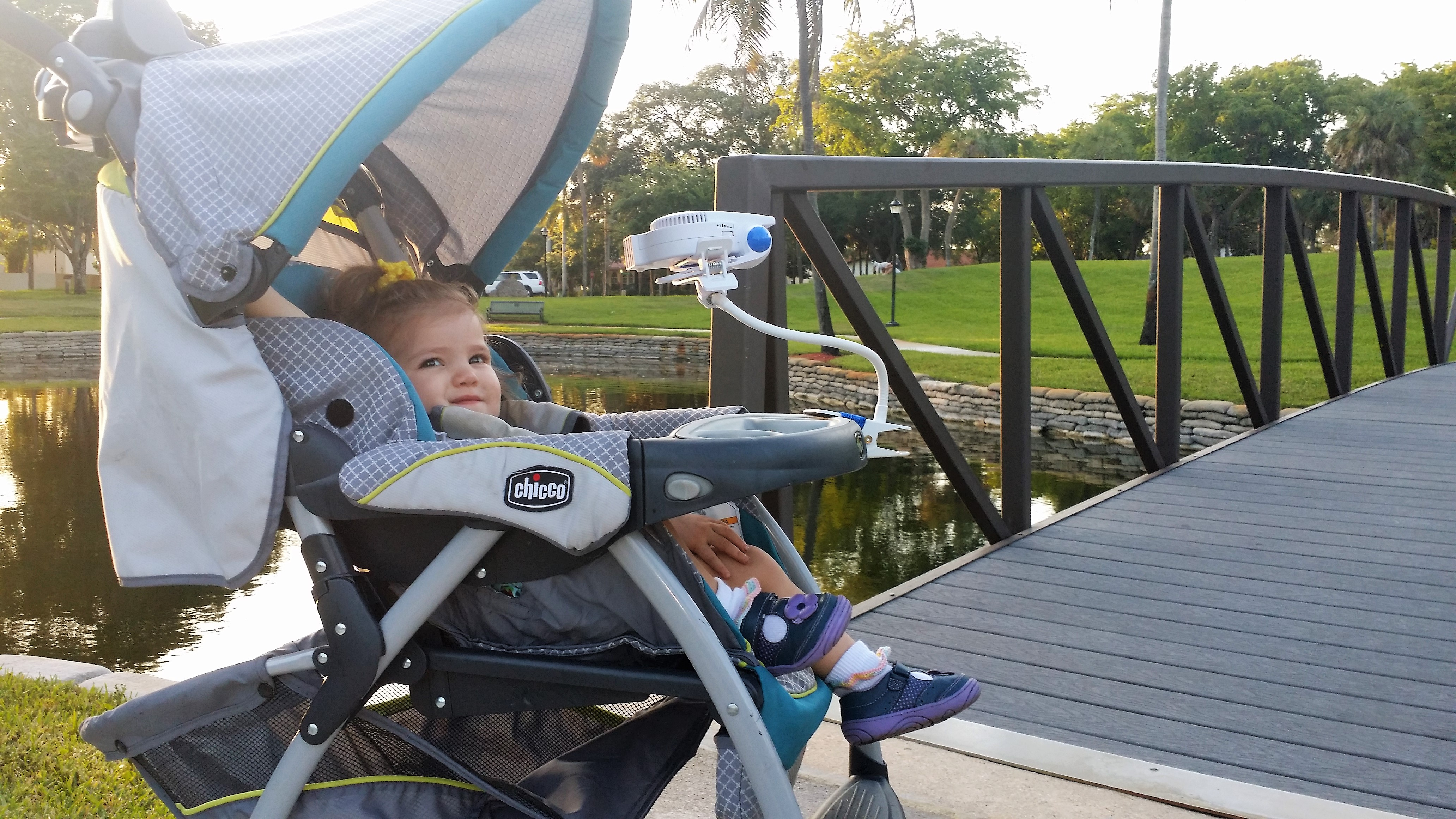 Rechargeable Stroller Fan by Cool On The Go Bladeless Battery Operated Fan