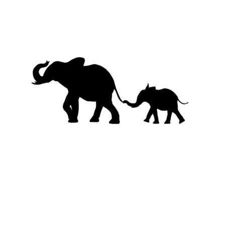 Pack of 3 Elephant and Baby Elephant Stencils Made from 4 Ply Mat Board 11x14, 8x10, - Baby Halloween Stencils