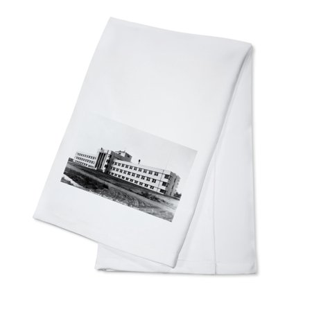 Anchorage, Alaska - Providence Hospital Exterior View (100% Cotton Kitchen Towel)