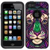 Skin Decal for OtterBox Commuter Apple iPhone SE Case - Aztec Tiger Head Blue OtterBox Commuter Apple iPhone SE Skin Decal Aztec Tiger Head Blue