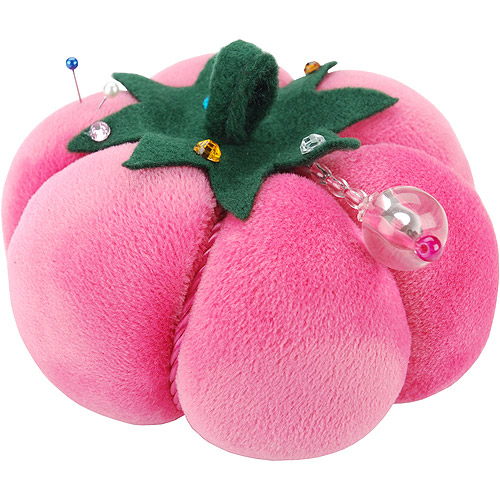 Velvet Tomato Pin Cushion-Pink Multi-Colored