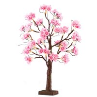 Collections Etc Lighted Cherry Blossom Floral Tabletop Tree