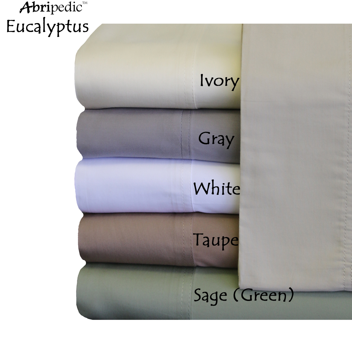 Luxurious & Breathable Abripedic 100-Percent Tencel Lyocell Sheets from Eucalyptus trees Soft & Cool Sheets Collections