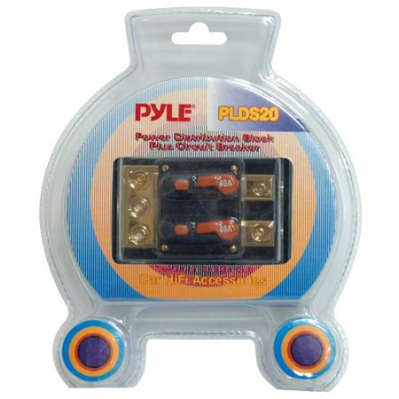 Pyle Dual 40 Amp In-Line Circuit Breaker/ Power distribution block