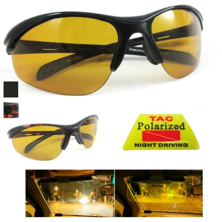 Polarized Sunglasses Driving Glasses Sport Night Vision Goggles UV400 Eyewear (Sunglasses At Night Rap)