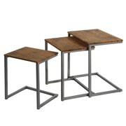 Costway 3 Pcs Nesting Coffee End Table Set Stacking Side Nightstand Living Room Office