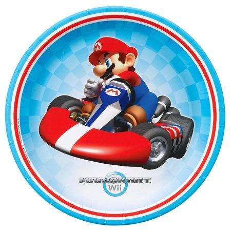 Hardware Metal Plate - Mario Kart Wii Dinner Plates, 8pk