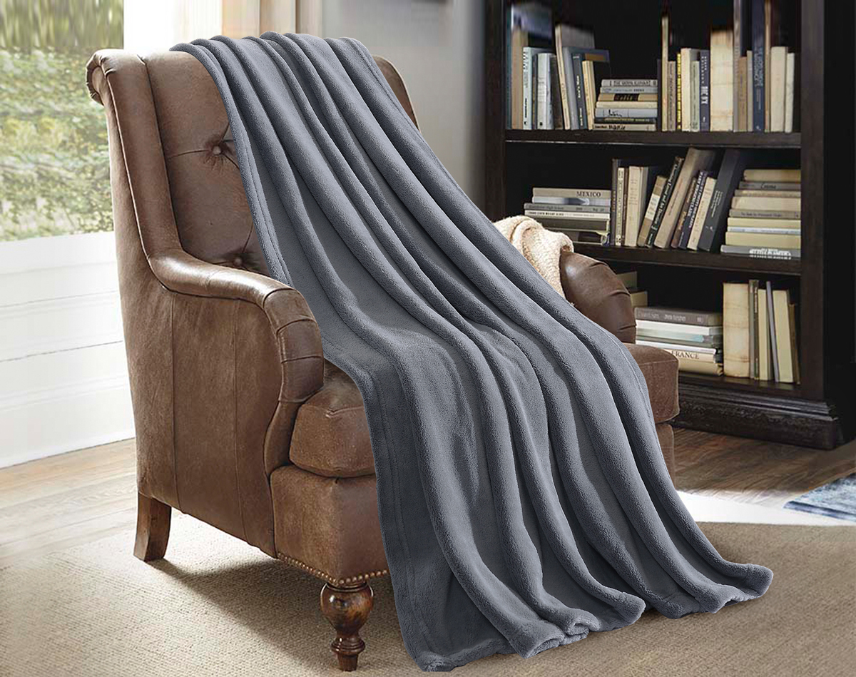 Multipurpose Super Soft Cozy Plush Fleece Throw Blanket For Bed Couch Sofa... by JML