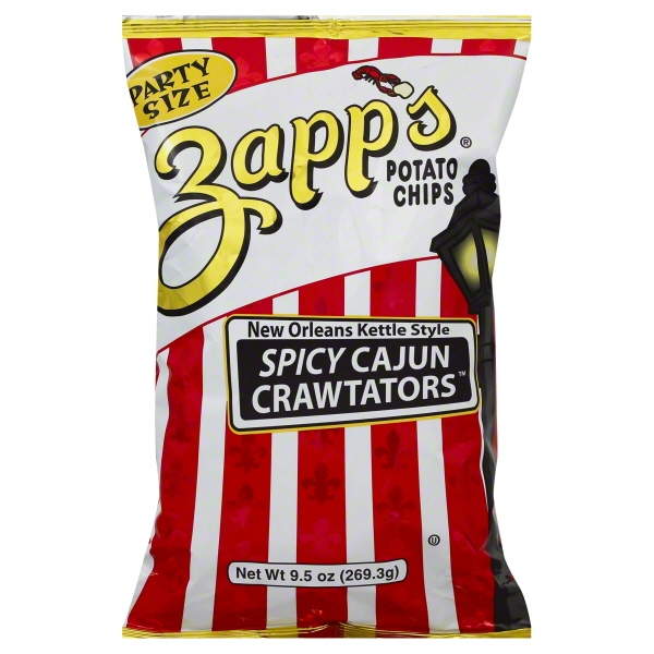 Zapp's New Orleans Kettle Style Spicy Cajun Potato Chips, 9.5 Oz.
