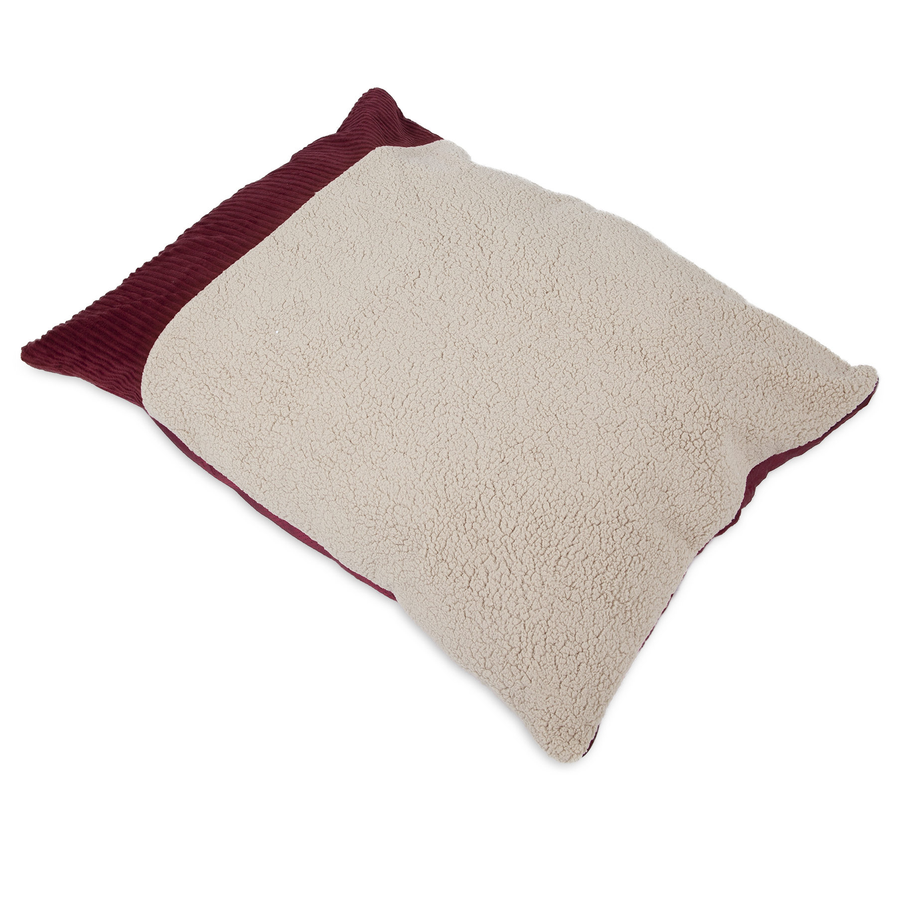 "Aspen Pet Self-Warming Pillow Bed Creme/Red 36"" x 27"""