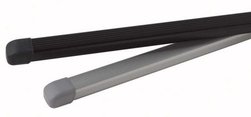 1 Pair Black INNO IN-B127 Square Cross Bars for Rooftop Racking Systems 50-Inch