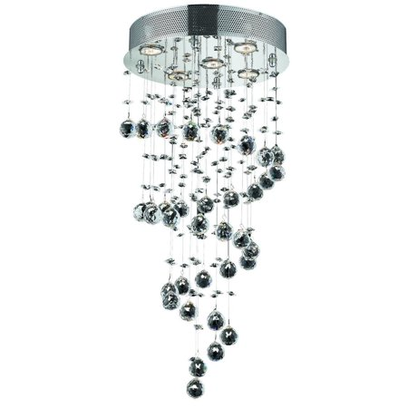 Galaxy 5 Light Crystal (Clear) Chandelier in Chrome Finish 2024D16C/SA